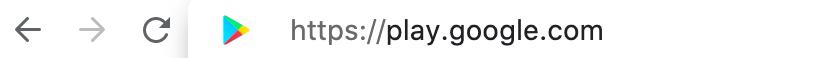 """Suchleiste um zu """"google play"""" zu gelangen"""