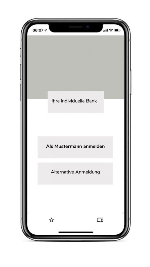Beispiel für eine Signatur-Anfrage einer Internet-Banking Anwendung